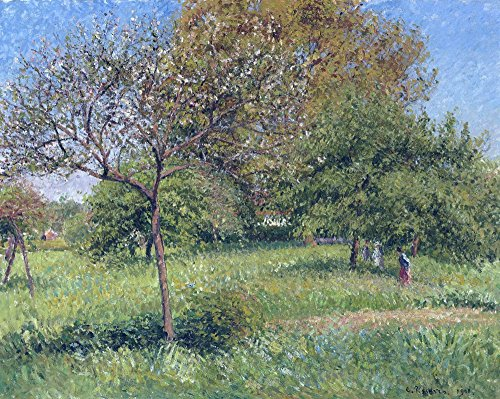 Das Museum Outlet - Tolles nut-tree, Morning, Eragny, 1901, gespannte Leinwand Galerie verpackt. 29,7 x 41,9 cm