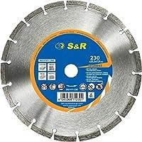 S&R Disque diamant 230 / Lame circulaire diamantée à tronçonner Béton, Brique, Pierre Naturelle, Qualité professionnelle