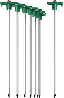 com four® 12x Zelt Heringe aus Stahl robuste Erdnägel mit