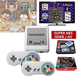 2018 TV VIDEO GAMES CONSOLE, SMART HDMI CLASSIC BUILT IN 621 GAMES 2 CONTROLLER