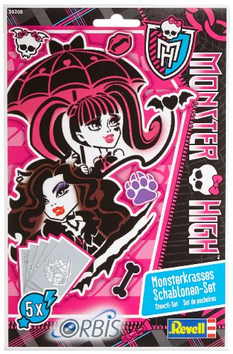Orbis 30208 - aerografo per bambini, set di mascherine monster high ii