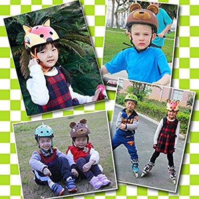 Asvert Catoon Kids Cycling Helmet Adjustable Headband Lightweight Multi-Sport Mountain Road Safety Children's Helmet Helmet For Bike/Skateboard / Scooter / Skating / Roller Blading Protective Gear Suitable 3-14 Years Old Boys And Girls by Asvert