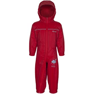 Regatta RKW156/_9Y6 Kids Puddle IV Waterproof Puddle Suit Pepper Red