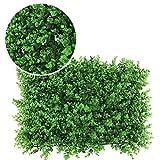 LVZAIXI Prato Artificiale Fondale di Siepe Specchio da Giardino for Matrimoni  Sfondo Muro di Piante Decor Schermata Privacy (Color : D, Size : 40x60cm)