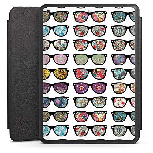 DeinDesign Smart Case schwarz kompatibel mit Apple iPad 6 Hülle mit Ständer Schutzhülle Glasses Brille Hipster