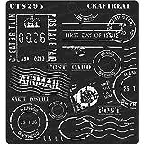 thecraftshop CrafTreat Stencil Postal 6 X 6 Inch