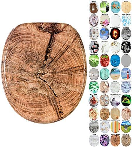 Sedile WC con chiusura ammortizzata, grande scelta di belli sedili WC da legno robusto e di alta qualità (Vecchio albero)