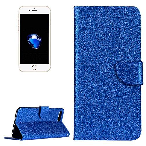 Wkae Glitter Powder Leder Tasche mit Halter & Wallet & Card Slots für iPhone 7 Plus ( Color : Gold ) Blue