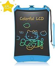 NEWYES Bunte LCD Schreibtafel 8,5 Zoll hellere Schrift mit Anti-Clearance Funktion und Dicke Linien,Magnete,String,Stift Papi