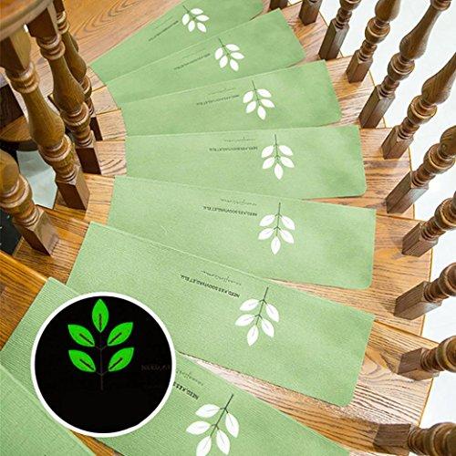 Hunpta Schritt Basic Skidproof Gummi Backing Skid-Resistant Teppich Treppen Greifer 5 Stk ()