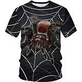 Leezeshaw Unisex 3D T-Shirts Mens Casual Marvel Heroes Venom/Spider-Man Printed Short Sleeve T-Shirts Top Tees S-3XL