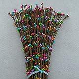 iStary 2018 Weihnachten Künstliche Staubblatt Berry Zweige DIY Staubblatt Blume Für Hochzeit Dekoration Scrapbooking Kranz Blumen 40 Cm 100 Teile Multicolor Perfektes Dekoratives Geschenk