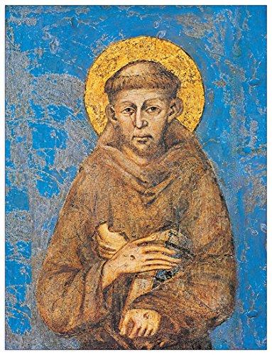 Artopweb Cimabue San Francesco d'Assisi Pannello MDF, Legno, Bordo Nero