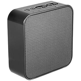 AudioAffairs Steckdosenradio in schwarz, Plug Radio inkl. AUX In Anschluss, USB Powerbank, Freisprecheinrichtung und UKW PLL Tuner, Küchenradio als Bluetooth Lautsprecher nutzen