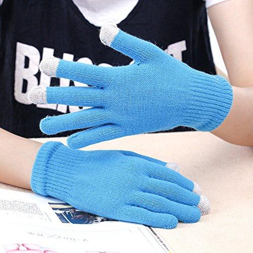 JQAM Inverno a maglia guanti di cotone Touchscreen telefono cellulare/Tablet per uomini e donne , (Scopo Esterno Raso)