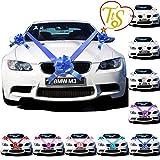 TtS 3 Bowknot 7M (Königsblau) Band Antennenschleifen Schelifen Autogirlande Autodeko Hochzeit