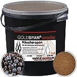 GOLDSPAN smoke B 5/10 Räucherspäne Räuchern Buche Räucherholz Smoking 5kg inkl. Abfüllschaufel und Wacholder Beeren