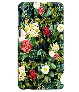 Blue Throat Sceneric Flower Pattern Printed Designer Back Cover For HTC Desire 826