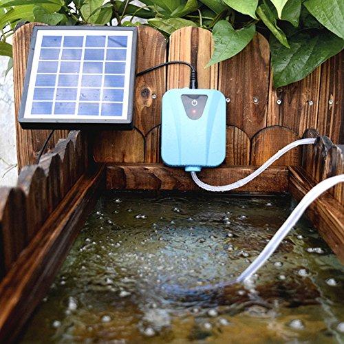 XuBa Bomba de oxígeno de Agua con energía Solar, aireador de Estanque, Bomba de Aire para Acuario