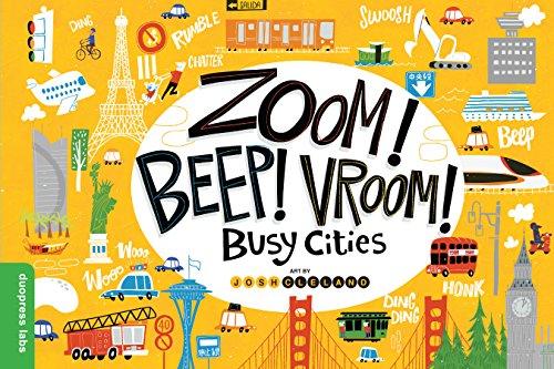 Zoom! Beep! Vroom! Busy Cities (English Edition) Chop Board