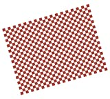Checkered red greaseproof paper - 25 x 33