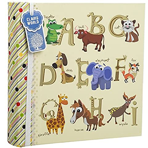 Large Baby Alphabet/Number Gift Slip In Case Photo Album For