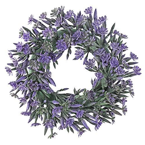 , innen: Ø 9,5cm, außen: Ø 23cm, mit violetten Blüten und Knospen ()