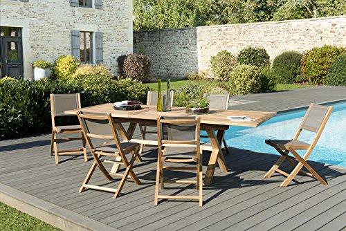 ▷ Table et chaises de jardin couleur taupe : découvrez les ...