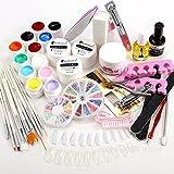 23 en 1 Juego Profesional Kit Set Completo de UV Gel + Tips para Arte de Uñas