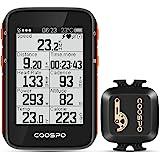 CooSpo Ciclocomputador GPS Computadora Bicicleta Inalámbrica Ordenador de Ciclismo Pantalla LCD de 2,4 Pulgadas por Impermeab