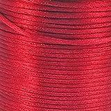 Cordon queue de rat en satin Noir - 2 mm - 5 m