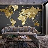 murando – Papier peint intissé 250x175 cm - Trompe l oeil - Tableaux muraux – Déco – XXL –Carte du Monde Continente k-A-0092-a-a