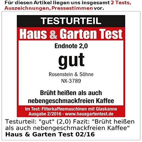 Rosenstein & Söhne Programmierbare Kaffeemaschine KF-316, 1.000 W - 5