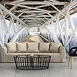 Fototapete Brücke 350x245 cm XXL   VLIES TAPETE - Moderne Wanddeko - Fototapete 3D Illusion - Riesen Wandbild - Design Tapete - Schlafzimmer, Wohnzimmer, Kinderzimmer geeignet   Fototapeten Wandtapete FOB0069a73XL