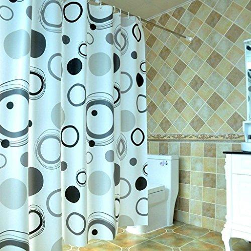 ZBB Erru Duschvorhang im Wasser und Warme Dicke mit Dem Test der ildewproof WC Badezimmer Rideau Wasserdicht der Partition (Größe: 150 cm * 180 cm).