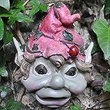 Wandornament, Design Gesicht eines Elfenjungen, Größe M, für Garten und Haus, 14cm