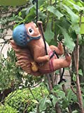 #9: Wonderland Climbing squirrel with rope Hanging Décor ( garden animal, decor , home & kids room decor , children , gift)