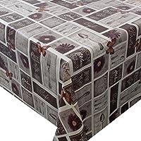 Premium  Wachstuch PS New York SW  Eckig Breite 75 cm Länge x wählbar Tischdecke