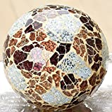 Gilde Dekokugel aus Mosaikglas, braun silber, ø 10 cm