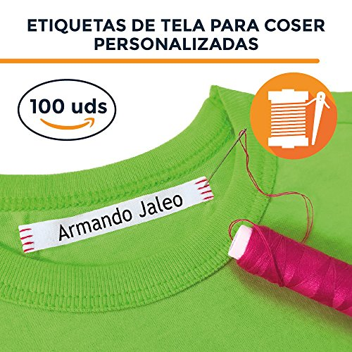 100 ETIQUETA DE TELA PARA MARCAR LA ROPA. CINTA PARA COSER EN LA ROPA