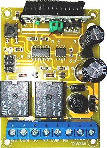 Drahtlose 2 Kanal Relais Empfangssteuerung Steuerung 12-24V