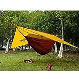 OUTBEDLALALA 40D Nylon Hängematte Zelt Double mit 20d Silikon Vorzelt Outdoor Camping Reise Garten Survival Hamac Schlafplatz Hamaca Schlupfloch, China