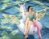 Yool Aufblasbare Pegasus Schwimmende Reihe, 200X105cm Farbige Flügel Schwimmende Schwimmring Erwachsene Kinder Wasser Urlaub Party Spielzeug
