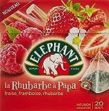 Elephant Infusion Fraise Framboise Rhubarbe 20 Sachets 38g