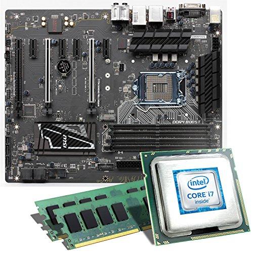 Intel Core i7-6700K / MSI Z170A GAMING PRO CARBON Mainboard Bundle / 16384 MB | CSL PC Aufrüstkit | Intel Core i7-6700K 4x 4000 MHz, 16 GB, Intel HD Graphics 530, GigLAN, 7.1 Sound, USB 3.1 Gen 2 | Aufrüstset | PC Tuning Kit