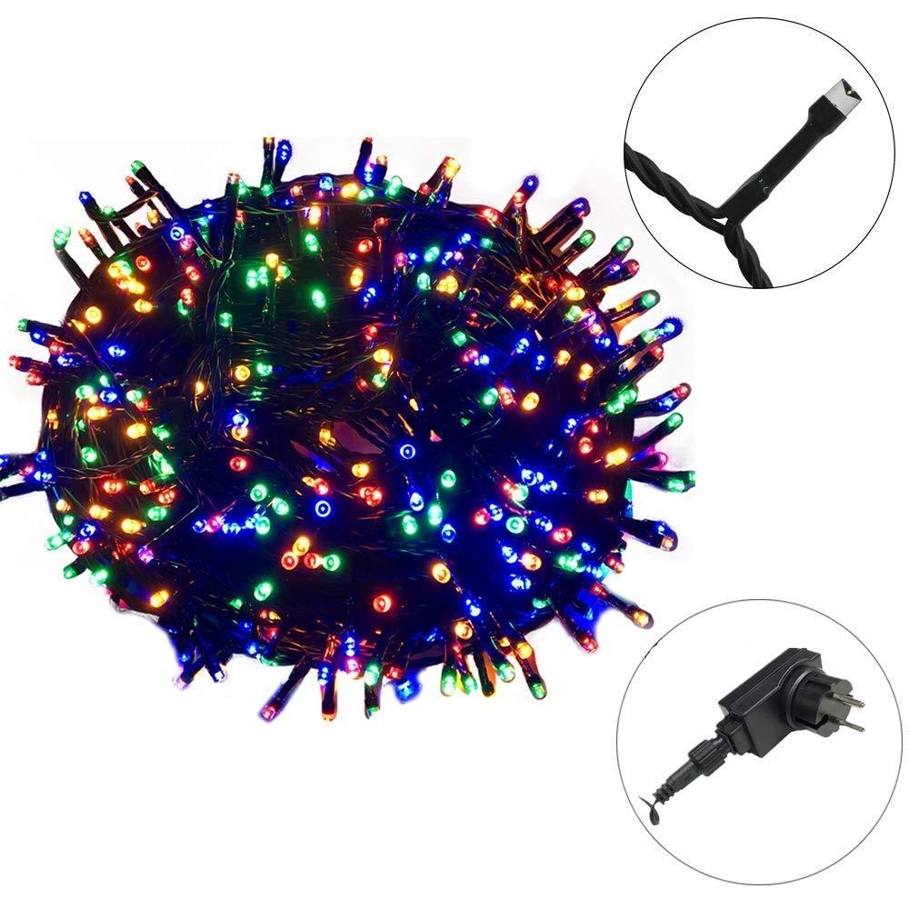 AUFUN LED Lichterkette Außen WarmWeiß – Außenlichterkette Weihnachtsbeleuchtung Wasserdicht IP44 mit 8 Leuchtmodi – für…