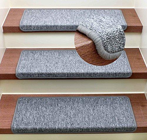 Stufenmatte Treppenmatte Monza Rechteckig - 6 aktuelle Farben ! (Grau)