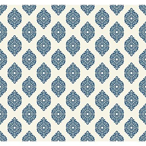 york-wallcoverings-wp2479-waverly-small-prints-garden-gate-wallpaper-marine-blue-white-by-york-wallc
