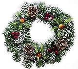 Weihnachtskranz und Adventskranz mit roten Poinsettie Weihnachtssternen – Weihnachtsdekoration und Weihnachtsschmuck im festlichen Rot, Grün und Gold – perfekte Dekoration für jede Jahreszeit