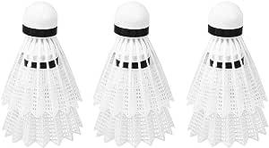 ANGGREK 6pcs Blanc balles de Badminton Volant Accessoires de Formation de Balle de Sports de Plein air